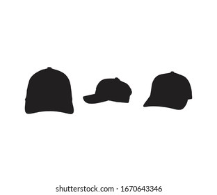 Baseball cap silhouettes design for print commercial use