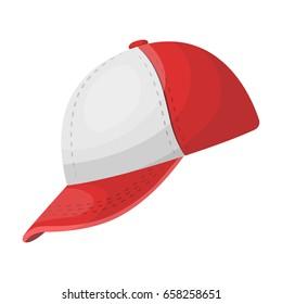 Baseball cap. Baseball single icon in cartoon style vector symbol stock illustration .