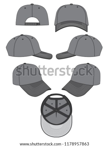 baseball cap template stock vector royalty free 1178957863