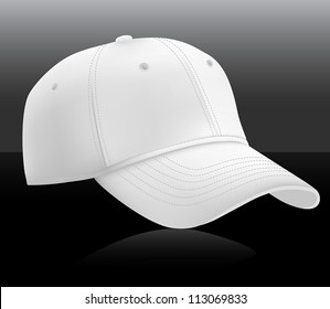 Baseball cap template. Mesh & gradients.