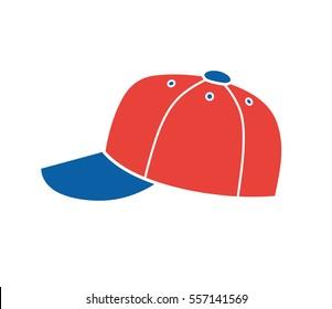 Baseball cap vector icon isolated.