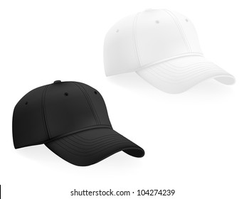 Baseball caps template. Mesh & gradients.