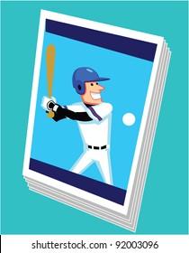 Baseball Card Cartoon