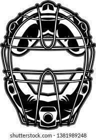 Baseball Catchers Mask With Padding And Metal Bar Protection