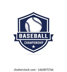 Baseball championship logo design vector