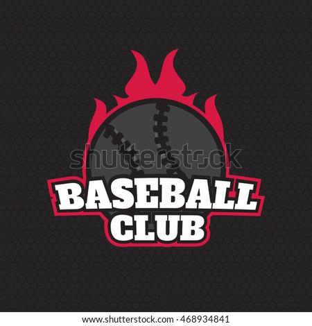 Baseball Championship Logo Label Templates Eps10