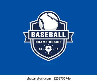Baseball championship logo template