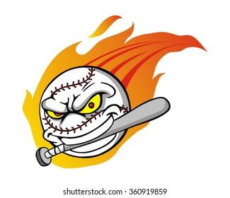 baseball character illustration logo icon vector