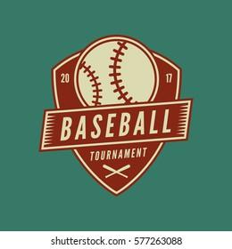 baseball club logo. vintage sport emblem. vector illustration