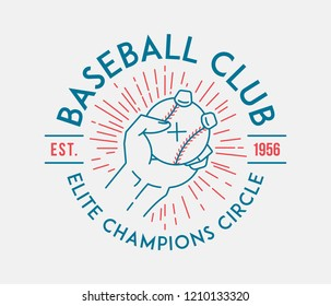 Baseball club is a vector illustration about sport
