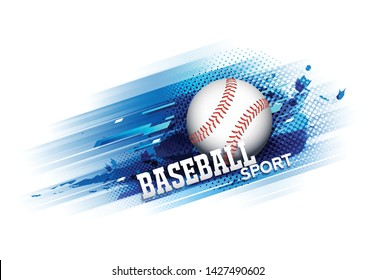 Baseball competition tournament template poster or banner vector design.