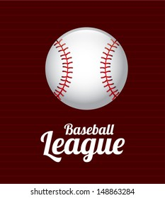 baseball design over red wine background vector illustration