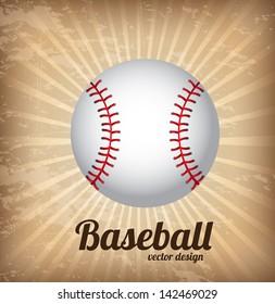 baseball design over vintage background vector illustration