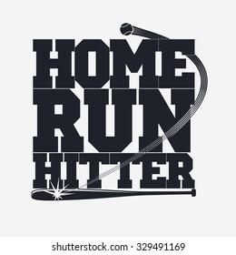 Baseball emblem - graphics for t-shirt, Vector Lettering
