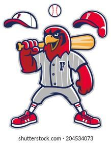 baseball falcon mascot