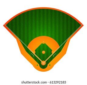 Baseball Field. Stadium. Sport background. Realistic vector illustration