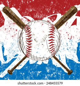 Baseball Flag background