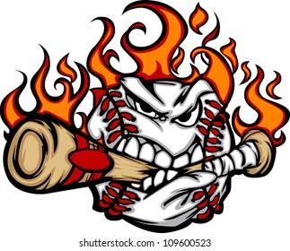 flaming baseball images stock photos vectors shutterstock rh shutterstock com Flaming Baseball Wallpaper flaming baseball logo quiz