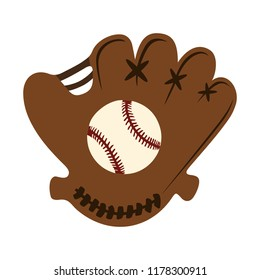 baseball glove with ball illustration. sports icon