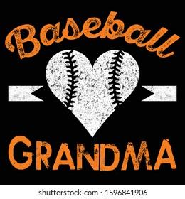 Baseball Grandma t shirt design template