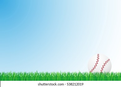 baseball grass field vector illustration isolated on background
