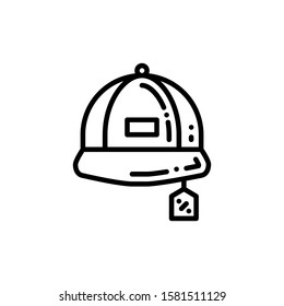 Baseball Hat Icon Outline Vector. Holiday Sale Icons. Online Shop Ikon.