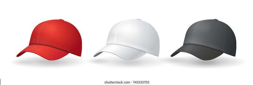 Baseball hats templates Uniform cap