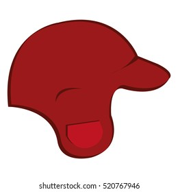 baseball helmet isolated icon
