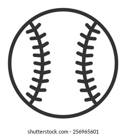 Baseball or baseball homerun line art vector icon for sports apps and websites