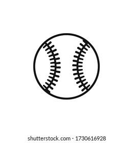 Baseball icon flat vector design