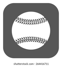 4c6dcc3078193 The baseball icon. Game symbol. Flat Vector illustration. Button