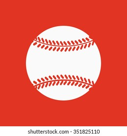 The baseball icon. Game symbol. Flat Vector illustration