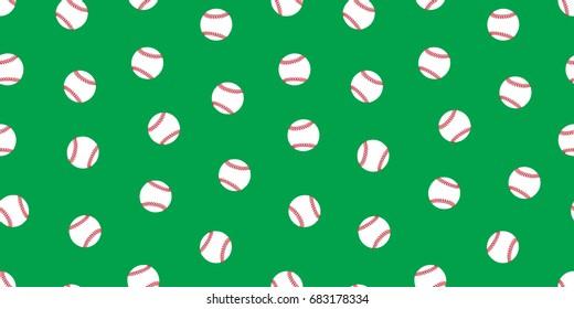 Baseball icon softball vector seamless pattern wallpaper background