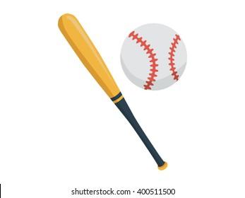 Baseball Illustration - Flat Icon