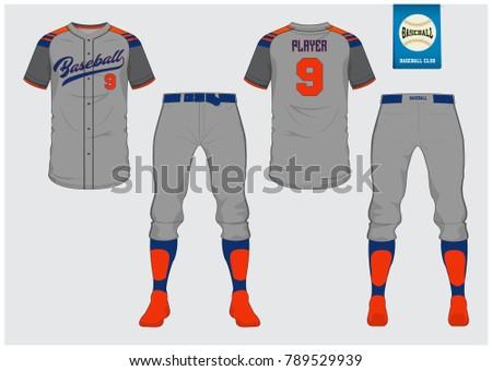 baseball jersey sport uniform raglan tshirt のベクター画像素材