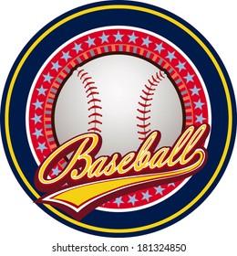 Baseball label Baseball champion