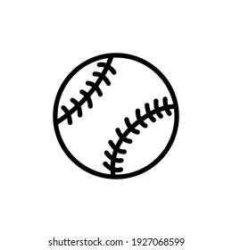 baseball line icon design vector template