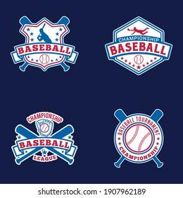 野球のロゴバッジ。 このデザインは、完全なベクター画像と編集可能です。