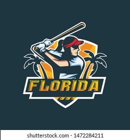 baseball logo esport design template