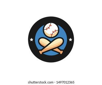 Baseball logo vector design. baseball logo line art vector. baseball logo symbol design