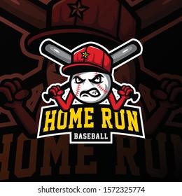 baseball mascot logo esport gaming. baseball mascot logo illustration.