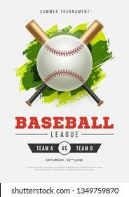 baseball match poster template