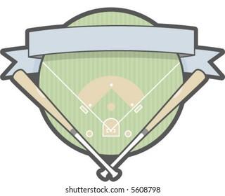 A baseball patch logo