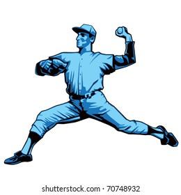 Baseball Pitcher Left handed