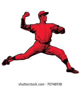 Baseball Pitcher Right handed