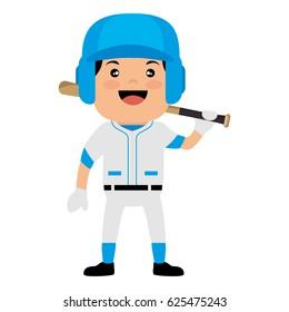 baseball player avatar character