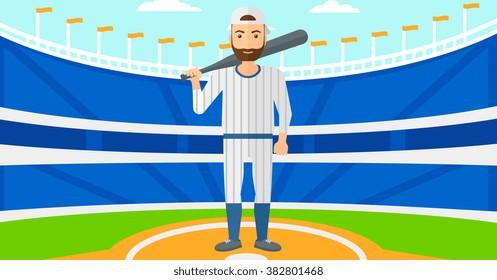 Baseball player with bat.