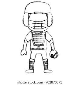 baseball player catcher avatar character