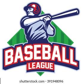 Baseball player hit the ball