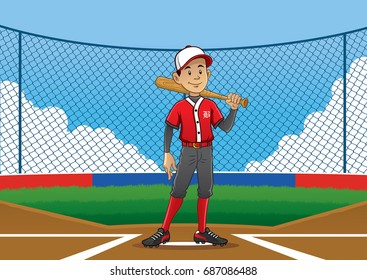 baseball player pose on the pitch